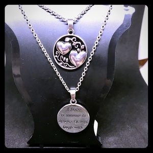 "Jewelry - NIP Silver ""Sister"" 20"" Necklace"